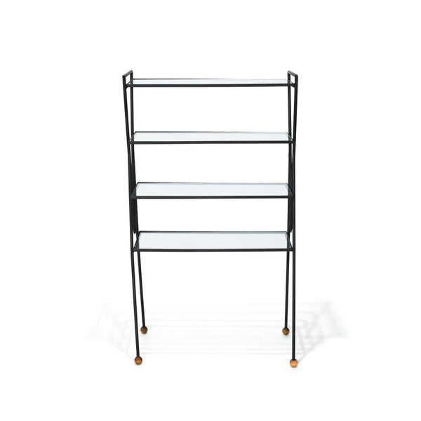 VINTAGE - Iron & Glass Bookshelf - MAN of the WORLD Online Destination for Men's Lifestyle - 3