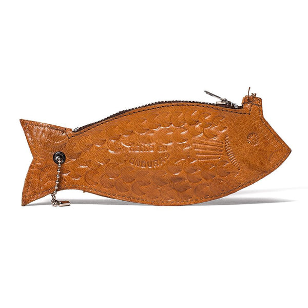 VINTAGE - Leather Fish Pouch - MAN of the WORLD Online Destination for Men's Lifestyle - 1