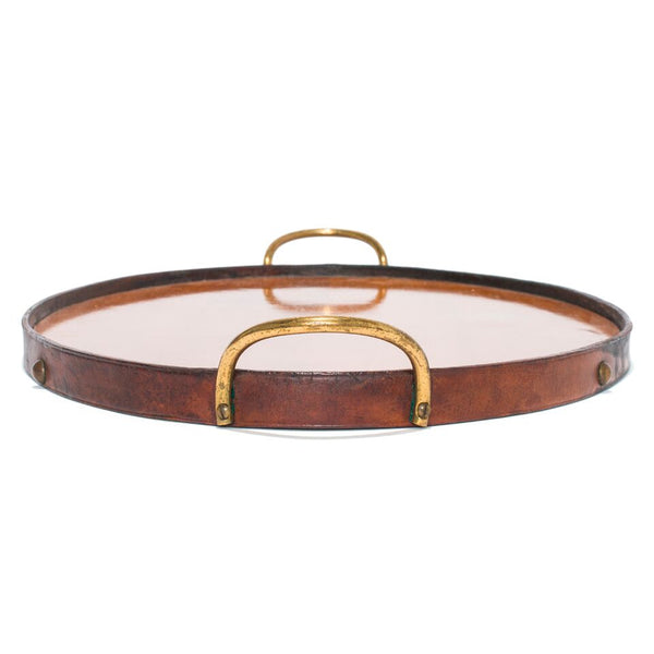 VINTAGE - Oval Wooden Tray with Brass Handles - MAN of the WORLD Online Destination for Men's Lifestyle - 4