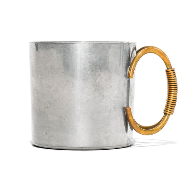 VINTAGE - Pewter Cup with Brass Handle - MAN of the WORLD Online Destination for Men's Lifestyle - 3