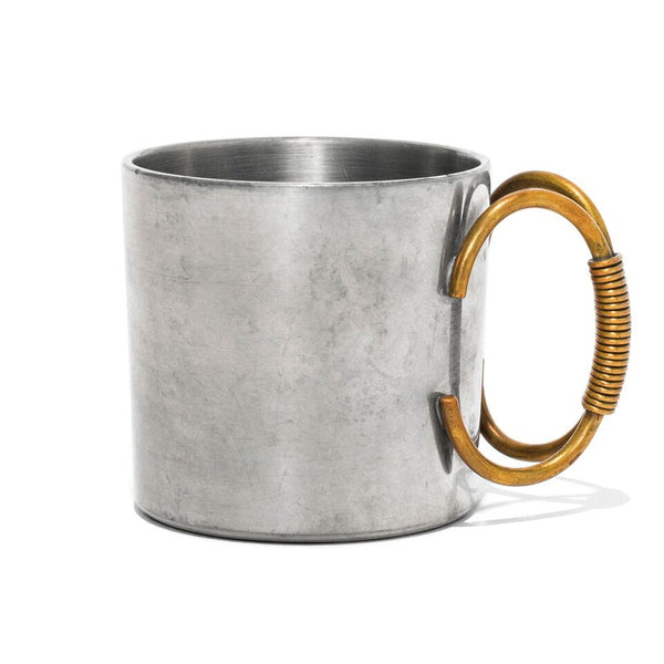 VINTAGE - Pewter Cup with Brass Handle - MAN of the WORLD Online Destination for Men's Lifestyle - 1