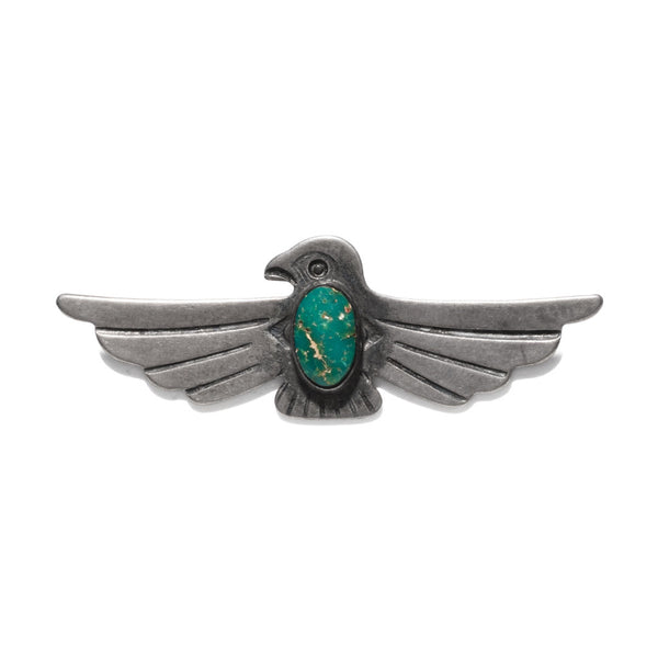 VINTAGE - Sterling Silver & Turquoise Thunderbird Pin - MAN of the WORLD Online Destination for Men's Lifestyle - 1
