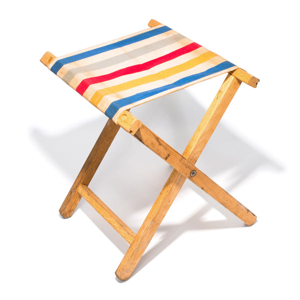 Vintage - Striped Canvas Stool - MAN of the WORLD Online Destination for Men's Lifestyle - 2
