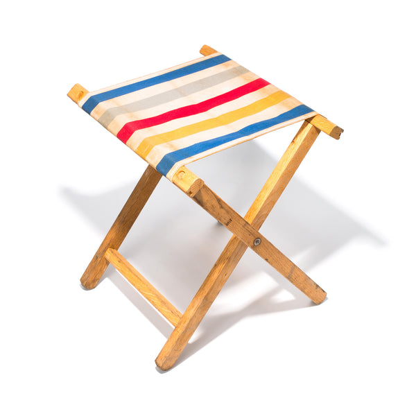 Vintage - Striped Canvas Stool - MAN of the WORLD Online Destination for Men's Lifestyle - 1