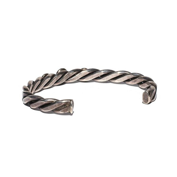 VINTAGE - Braided Sterling Silver Four Stone Cuff - MAN of the WORLD Online Destination for Men's Lifestyle - 2