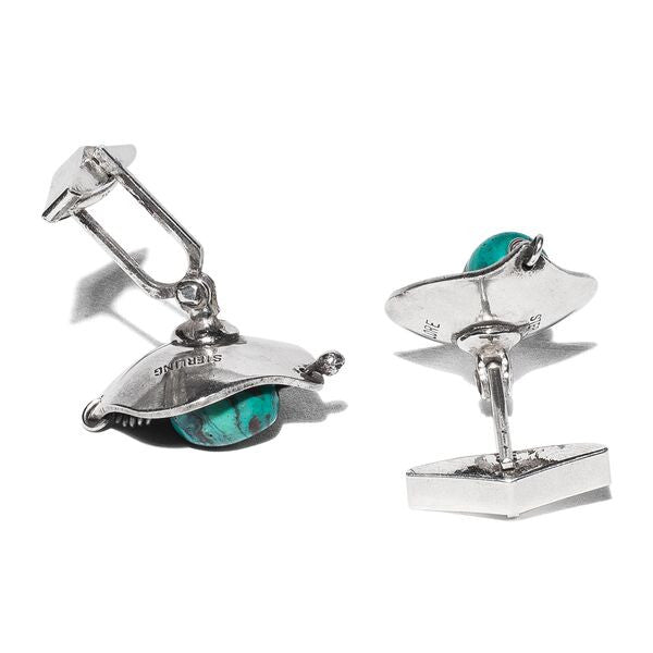 Lore - Sterling Silver Turquoise Cufflinks - MAN of the WORLD Online Destination for Men's Lifestyle - 2
