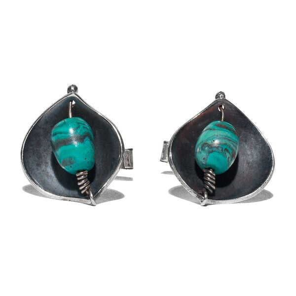 Lore - Sterling Silver Turquoise Cufflinks - MAN of the WORLD Online Destination for Men's Lifestyle - 3