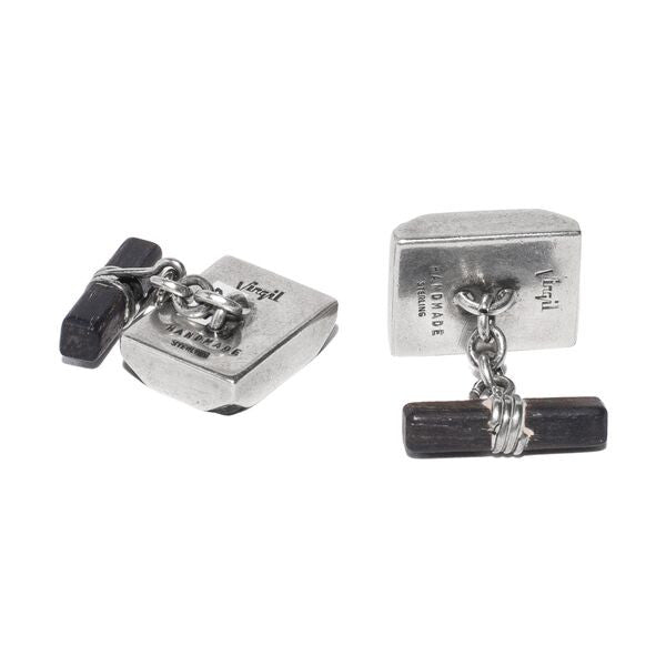 Virgil - Black Wood Sterling Silver Cufflinks - MAN of the WORLD Online Destination for Men's Lifestyle - 2