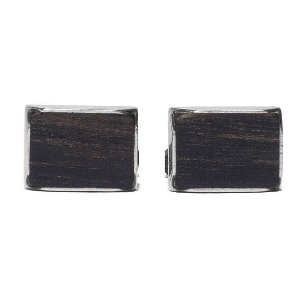 Virgil - Black Wood Sterling Silver Cufflinks - MAN of the WORLD Online Destination for Men's Lifestyle - 3
