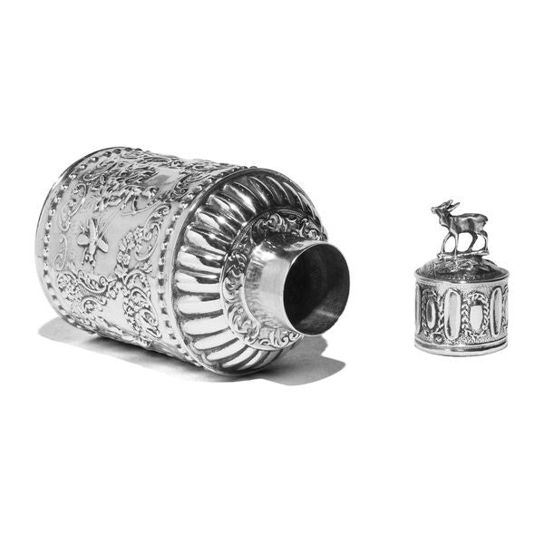 VINTAGE - Antique Dutch Silver Tea Caddy with Fanciful Ornament - MAN of the WORLD Online Destination for Men's Lifestyle - 2