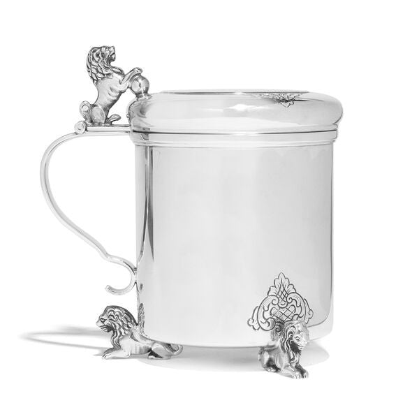 VINTAGE - Danish Silver Covered Cup with Lions - MAN of the WORLD Online Destination for Men's Lifestyle - 5