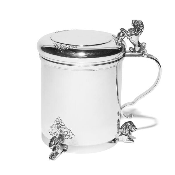 VINTAGE - Danish Silver Covered Cup with Lions - MAN of the WORLD Online Destination for Men's Lifestyle - 4