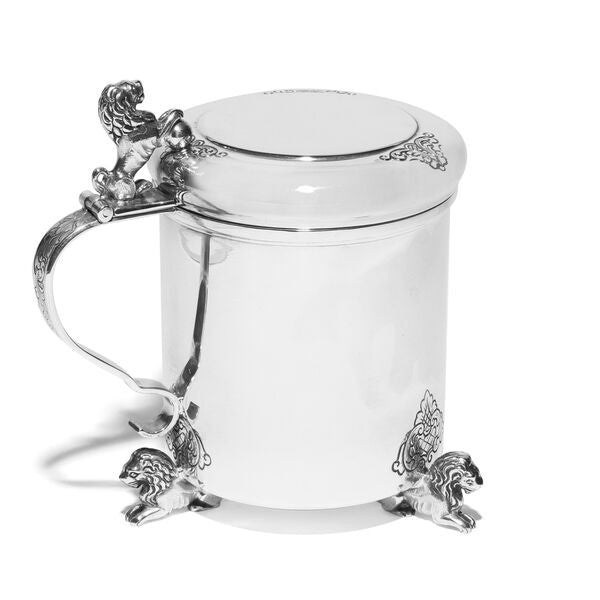 VINTAGE - Danish Silver Covered Cup with Lions - MAN of the WORLD Online Destination for Men's Lifestyle - 2