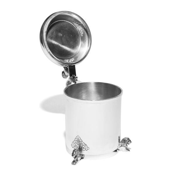 VINTAGE - Danish Silver Covered Cup with Lions - MAN of the WORLD Online Destination for Men's Lifestyle - 3