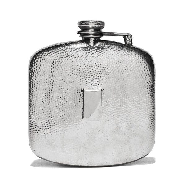 VINTAGE - Hammered Pewter Flask - MAN of the WORLD Online Destination for Men's Lifestyle - 1