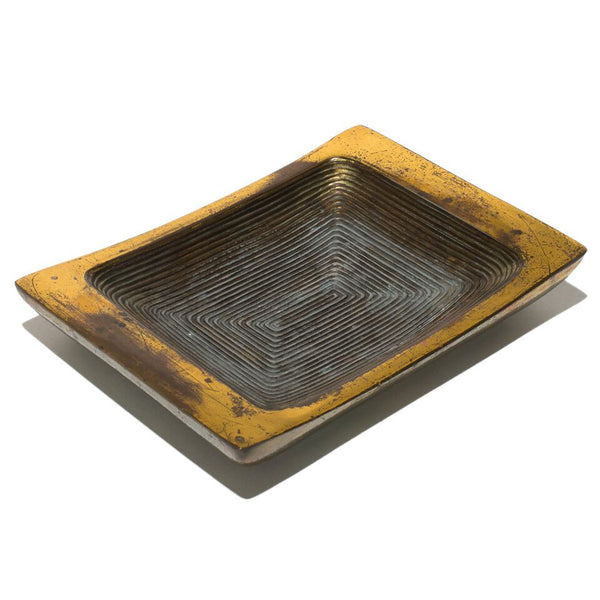 Ribbed Brass Ashtray