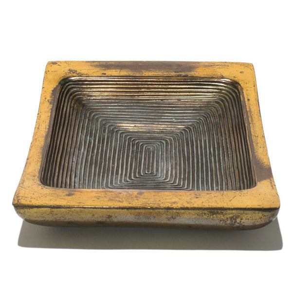 Ben Seibel - Ribbed Brass Ashtray - MAN of the WORLD Online Destination for Men's Lifestyle - 2