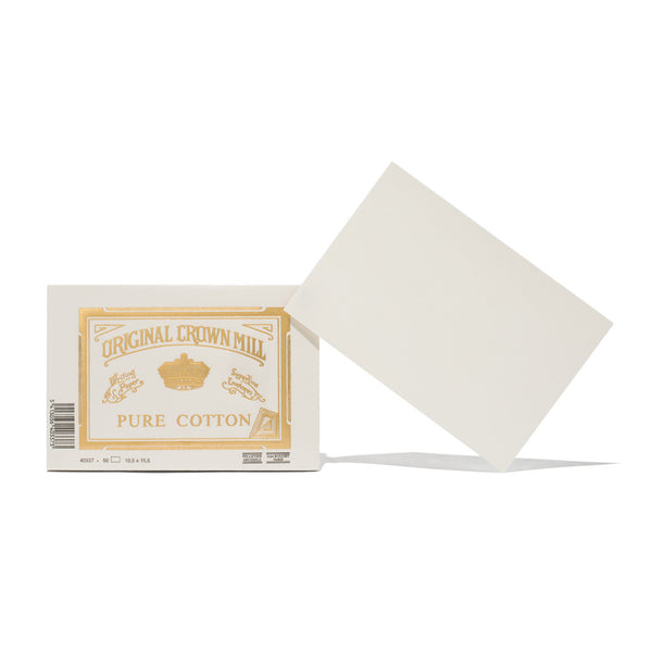 Original Crown Mill - Pure Cotton Flat Cards (50 Pack) - MAN of the WORLD Online Destination for Men's Lifestyle - 1