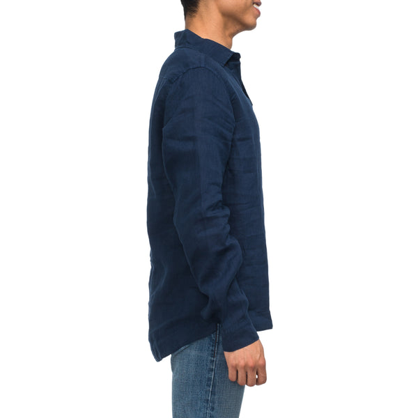 Ridley Linen Popover - Navy