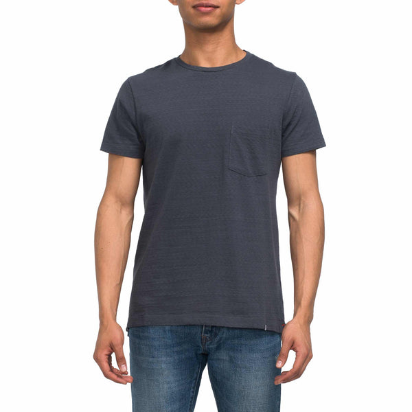 Sammy Slub Pocket Tee - Ebony