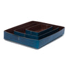 Leather Rectangular Trays - Blue