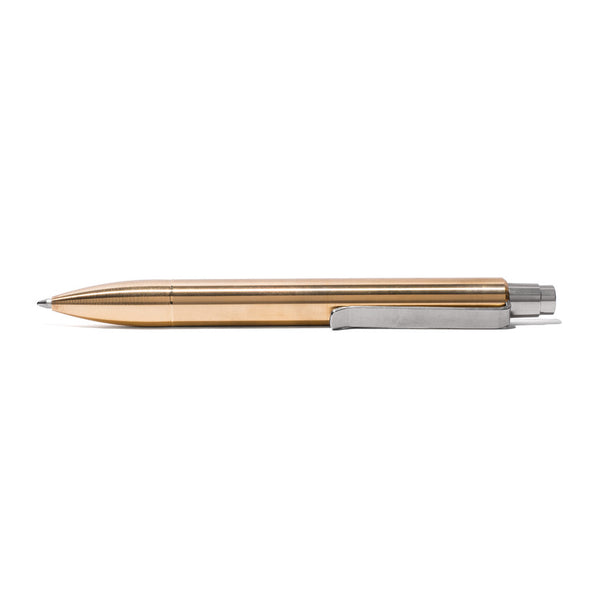 MAN OF THE WORLD - Polished Brass Silent Click Pen - MAN of the WORLD Online Destination for Men's Lifestyle - 2