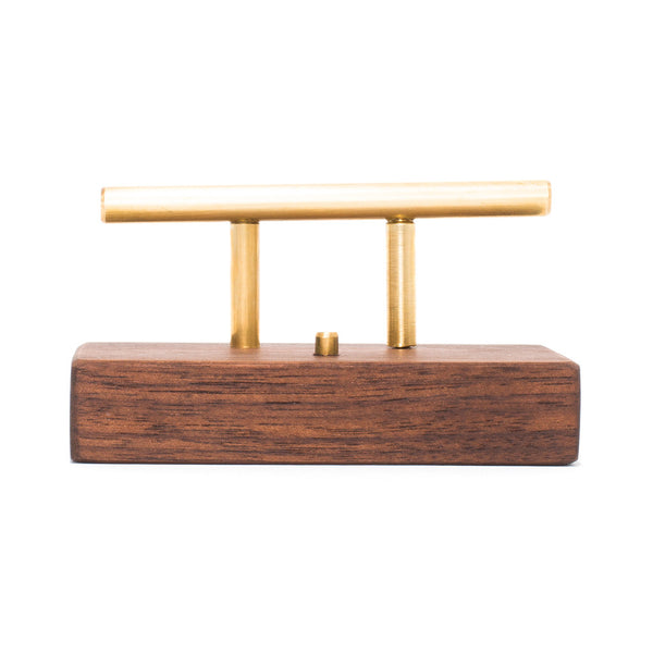 MAN OF THE WORLD - Rectangular Black Walnut Business Card Holder - MAN of the WORLD Online Destination for Men's Lifestyle - 3