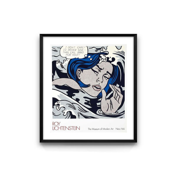 Roy Lichtenstein's Drowning Girl