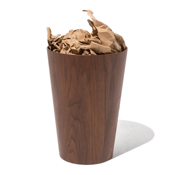 Ayous Waste Basket - Walnut