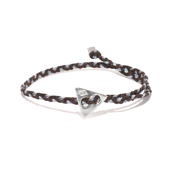 Triangle Button Bracelet - Silver