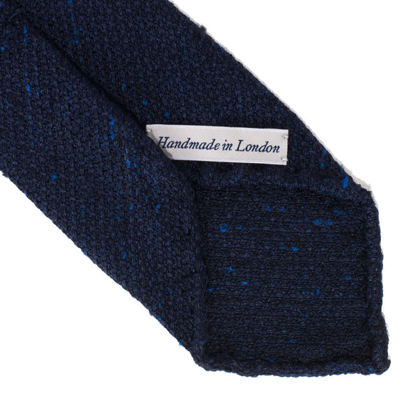 Drake's - Silk Woven Grenadine Tie - Navy - MAN of the WORLD Online Destination for Men's Lifestyle - 3