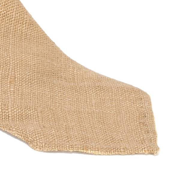 Drake's - Silk Woven Shantung Tie - Beige - MAN of the WORLD Online Destination for Men's Lifestyle - 2