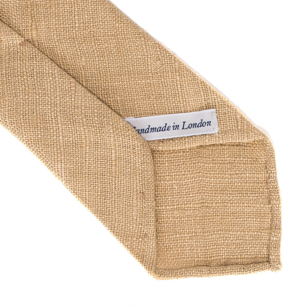 Drake's - Silk Woven Shantung Tie - Beige - MAN of the WORLD Online Destination for Men's Lifestyle - 3