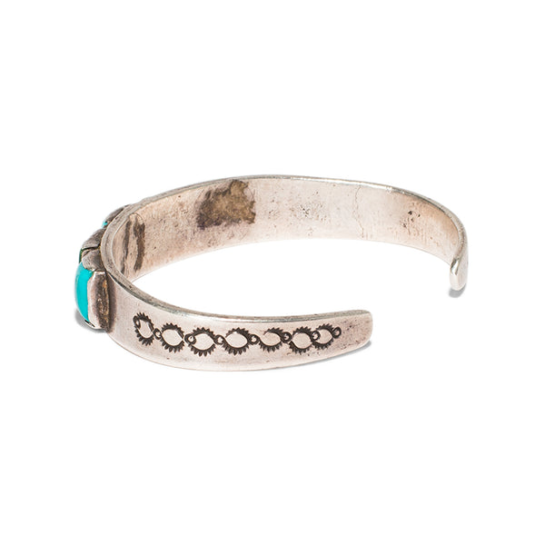 Six Square Stone Turquoise Cuff
