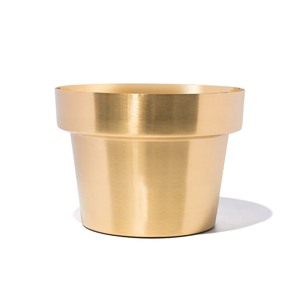 Skultuna - Brushed Brass Planter - Small - MAN of the WORLD Online Destination for Men's Lifestyle - 1