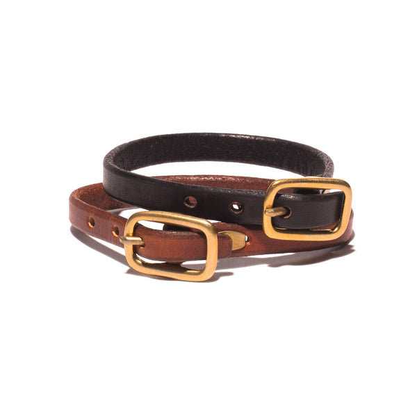 Square Buckle Leather Bracelet
