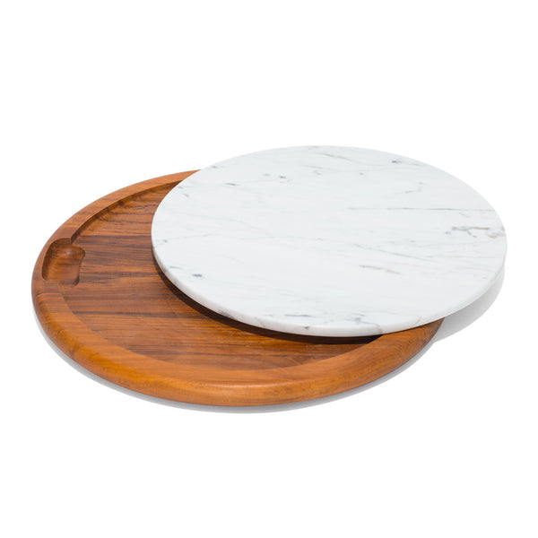 VINTAGE - Teak & Marble Tray - MAN of the WORLD Online Destination for Men's Lifestyle - 1