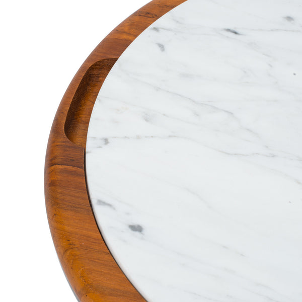 VINTAGE - Teak & Marble Tray - MAN of the WORLD Online Destination for Men's Lifestyle - 2
