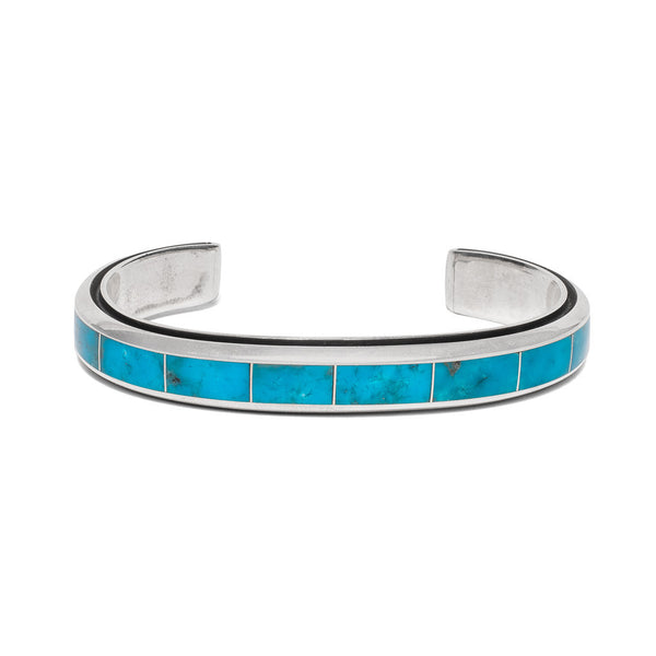 MAN OF THE WORLD - Turquoise Inlay with Edge Channel Cuff - MAN of the WORLD Online Destination for Men's Lifestyle - 1