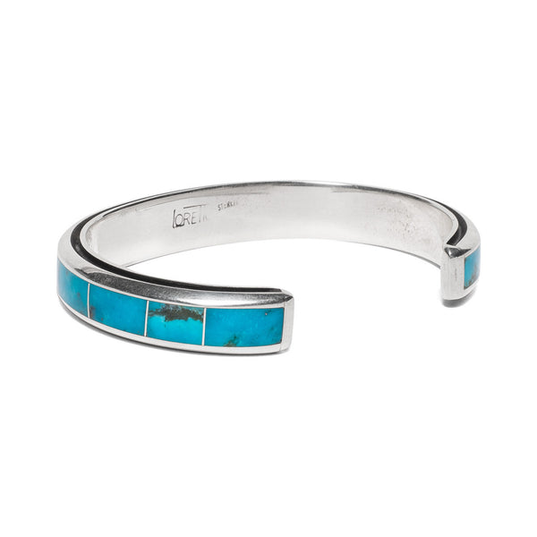 MAN OF THE WORLD - Turquoise Inlay with Edge Channel Cuff - MAN of the WORLD Online Destination for Men's Lifestyle - 2