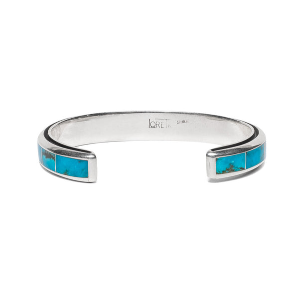 MAN OF THE WORLD - Turquoise Inlay with Edge Channel Cuff - MAN of the WORLD Online Destination for Men's Lifestyle - 3