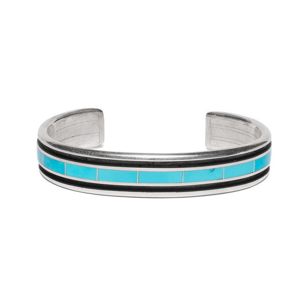 Turquoise Inlay with Side Channel Cuff