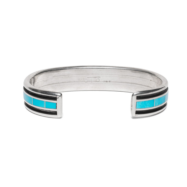 MAN OF THE WORLD - Turquoise Inlay with Side Channel Cuff - MAN of the WORLD Online Destination for Men's Lifestyle - 3