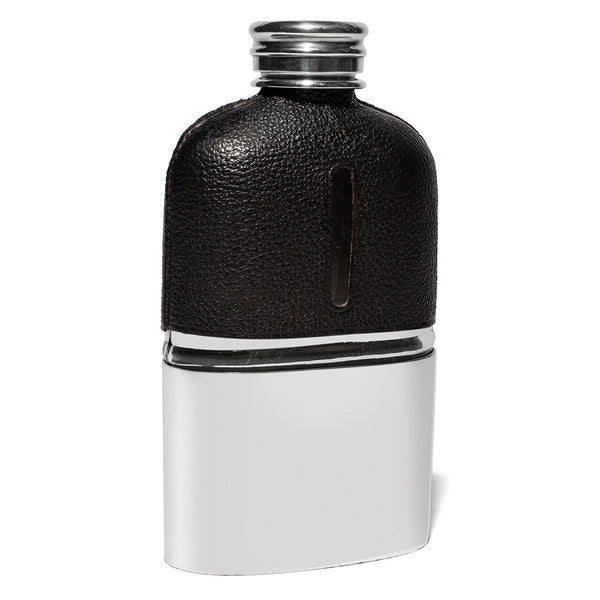 VINTAGE - Black Leather-Wrapped Flask - MAN of the WORLD Online Destination for Men's Lifestyle - 5