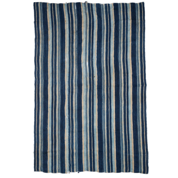 VINTAGE - Blue Striped Woven Serape - MAN of the WORLD Online Destination for Men's Lifestyle - 1