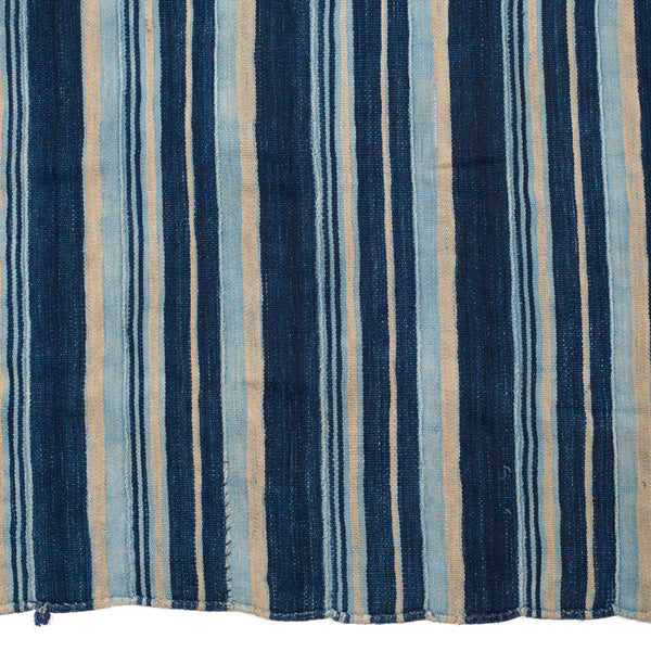VINTAGE - Blue Striped Woven Serape - MAN of the WORLD Online Destination for Men's Lifestyle - 2