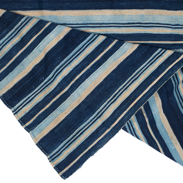 VINTAGE - Blue Striped Woven Serape - MAN of the WORLD Online Destination for Men's Lifestyle - 3