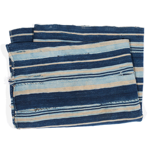 VINTAGE - Blue Striped Woven Serape - MAN of the WORLD Online Destination for Men's Lifestyle - 4