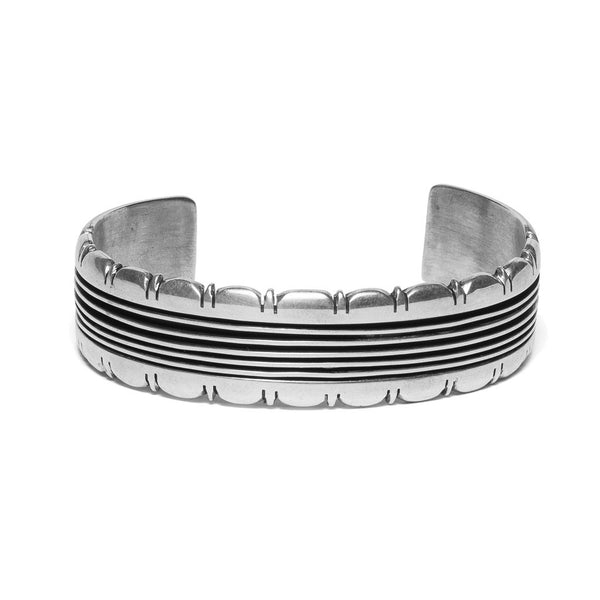 Channel Etched Cuff with Detailed Edging
