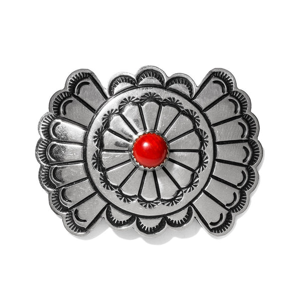 VINTAGE - Coral & Silver Bow Pin - MAN of the WORLD Online Destination for Men's Lifestyle - 1
